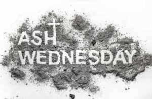 Ash Wednesday words written in ash