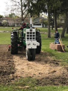 Tilling the community garden